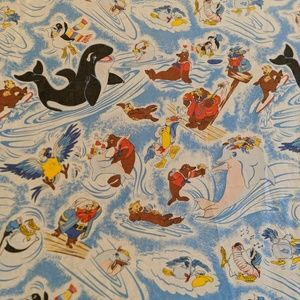 Other - Vintage Sea World Twin Flat Sheet